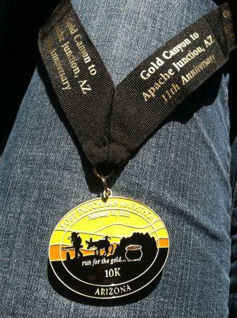 Lost Dutchman 10K Medal 2012