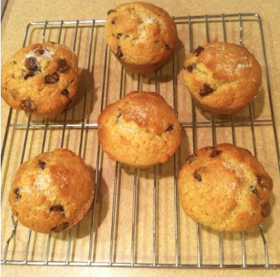 Chocolate Chip Muffins, recipe from Food.com