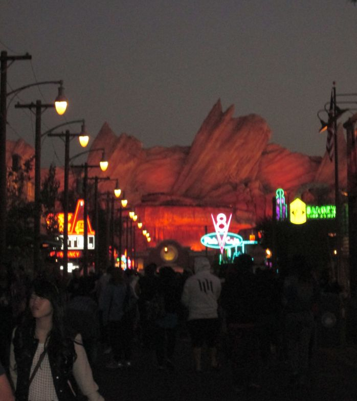 This was taken the night before, but just to show you what it looks like all lit up.